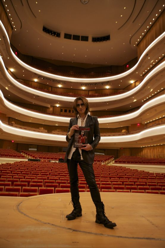 X Japan's Yoshiki launches 2014 solo classical world tour at Southern California's Renée and Henry Segerstrom Concert Hall. (Photo by Kevin Baldes)