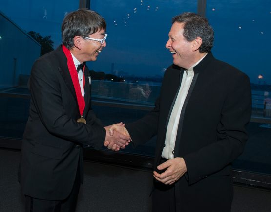 2013 Ceremony: Toyo Ito and Tom Pritzker Photo courtesy of The Pritzker Architecture Prize and The Hyatt Foundation