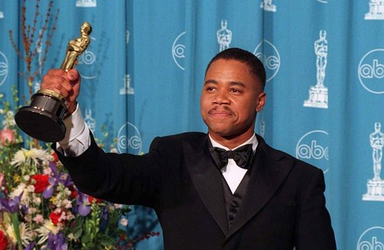 "Cuba Gooding, Jr. at the 1997 Academy Awards (Best Supporting Actor for ""Jerry Maguire"")"
