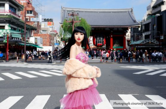 Model Jessica Minh Anh Visits Japan