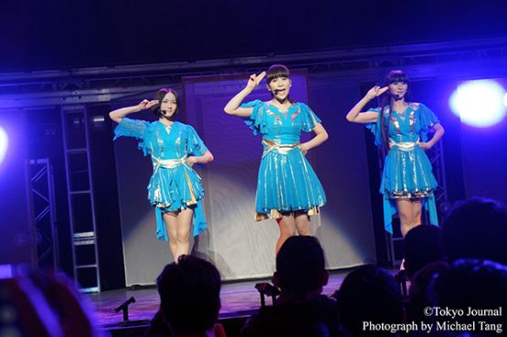 Perfume performing at The Wiltern in Los Angeles on August 26th, 2016